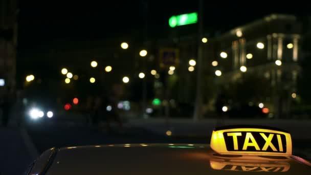Osvětlené Sighn Taxi Cab 1