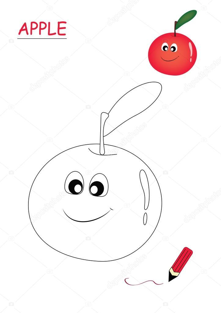 Färbung von Buch-Apfel — Stockfoto © Bennuccia #83838666