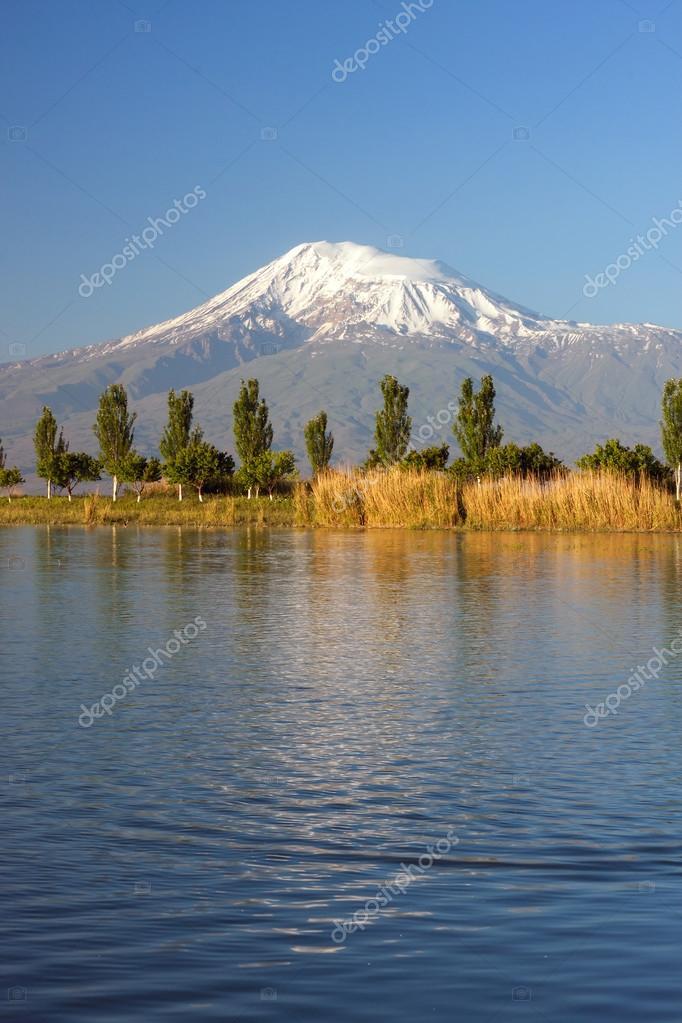 Mount Ararat from Sis village in Ararat region