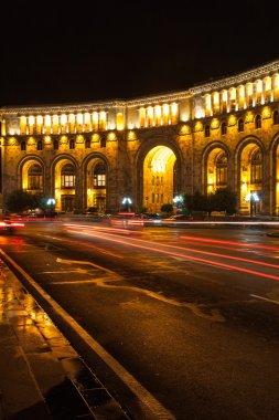 Yerevan republic square at night