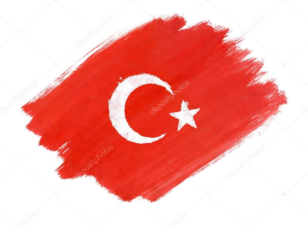Turkish Flag Painted With Gouache Stock Photo C Aleoks 94717676