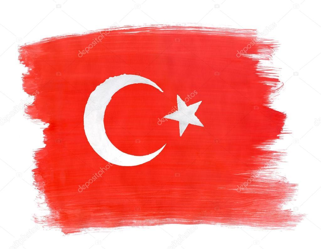 Türk Bayrağı Ile Guaj Boya Stok Foto Aleoks 94717734