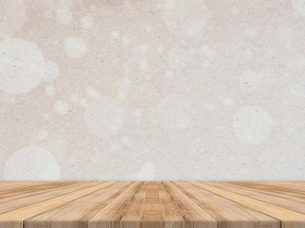 wooden tabletop at tropical paper texture wall template mock up for
