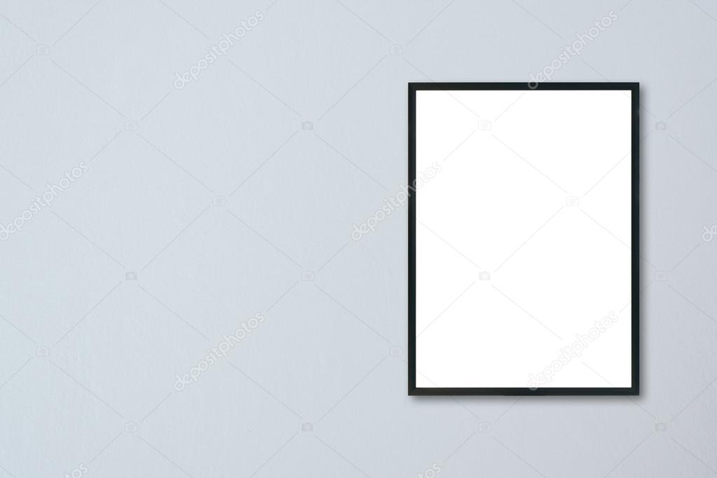 Mock-up leeren Rahmen an der Wand im Zimmer hängen — Stockfoto ...