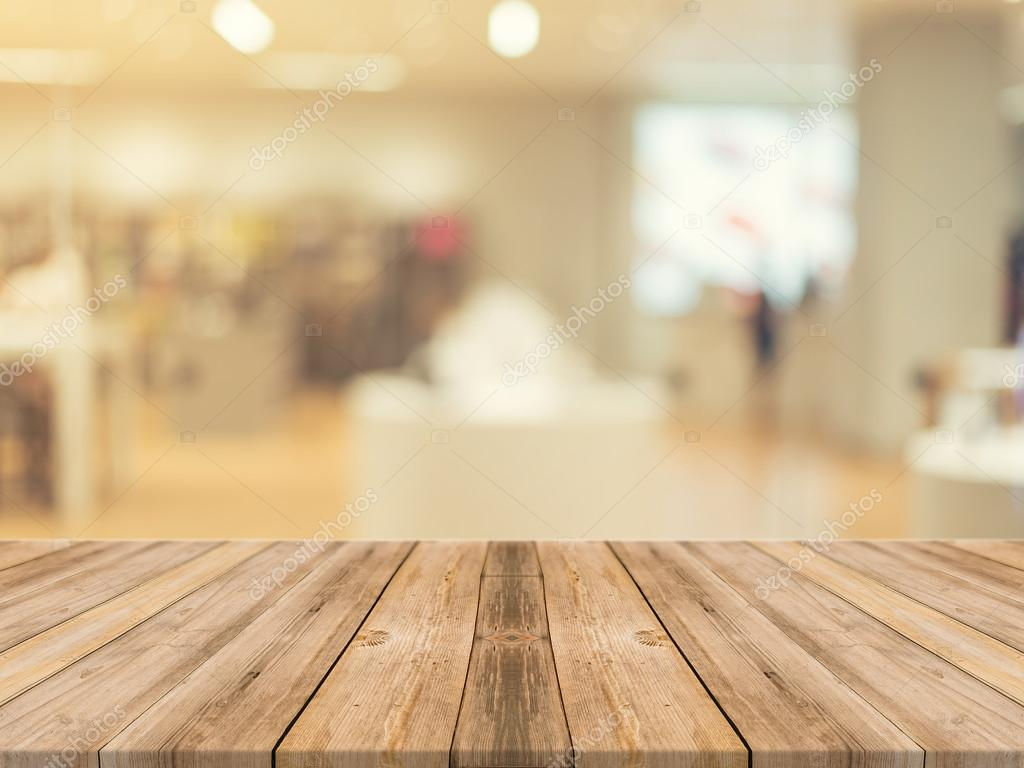 Wooden board empty table blurred background perspective - Stores para cocinas ...