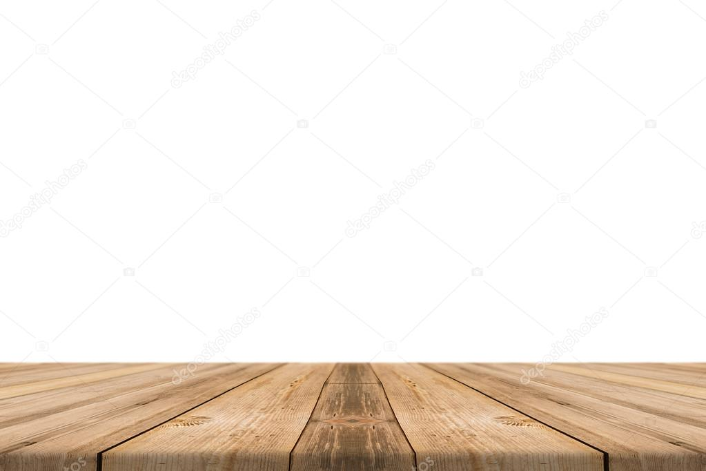 Table Top Background In Empty Light Wood Table Top Isolate On White Background Leave Space For Placement You Background