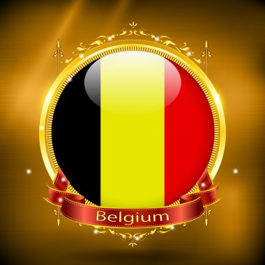 Flag of Belgium in gold