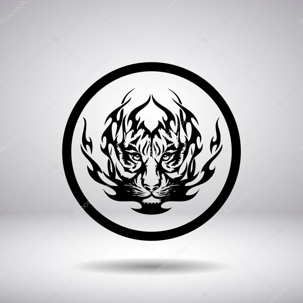 Silhouette of tiger head in a circle stock vector wizdan 84956278 silhouette of tiger head in a circle stock vector biocorpaavc
