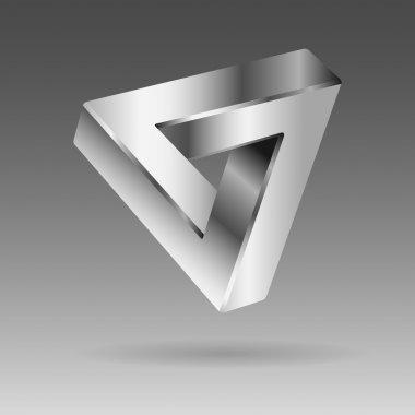 silver 3d logo - illusion