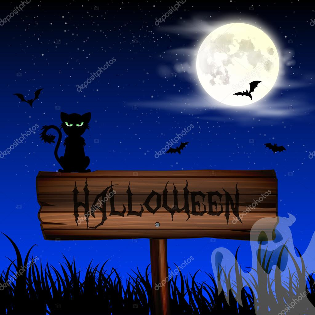 Best Wallpaper Night Cat - depositphotos_86492656-stock-illustration-halloween-night-wallpaper-with-cat  Picture.jpg