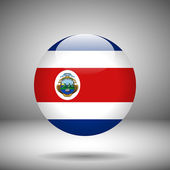 Round flag of Costa Rica