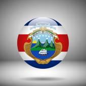 Fotografie Round flag of Costa Rica