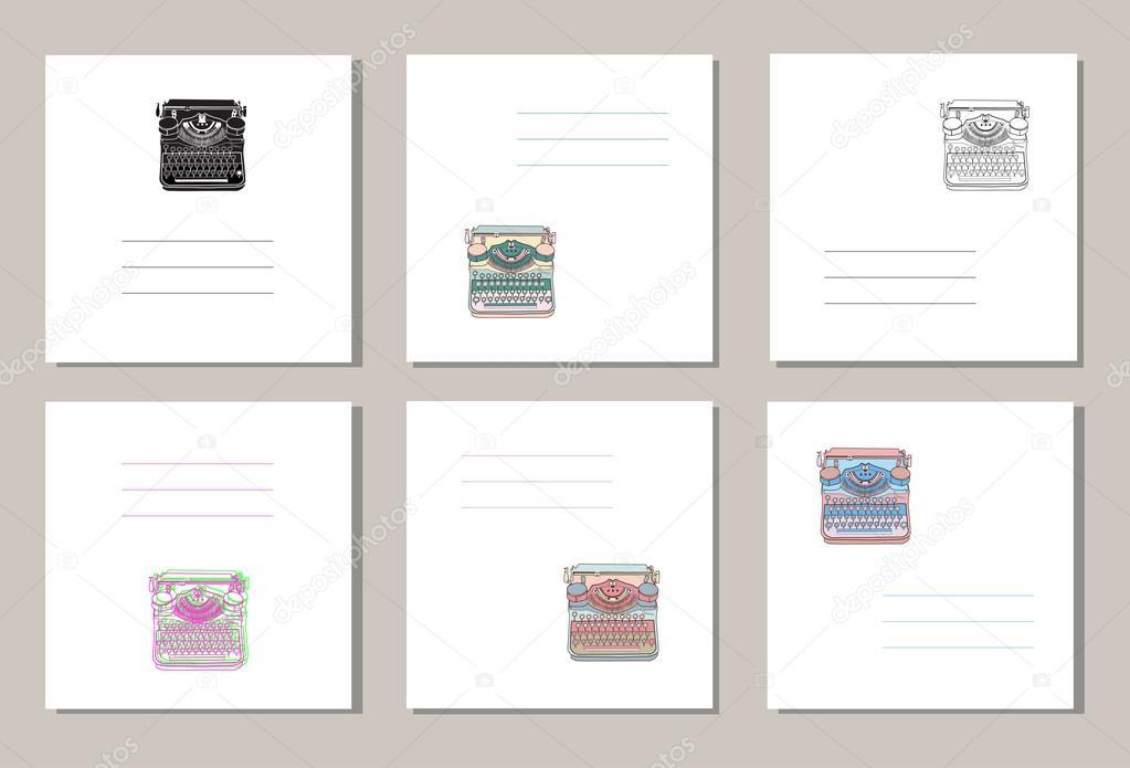 Set de 6 fundas creativas o tarjetas universales con las máquinas de ...