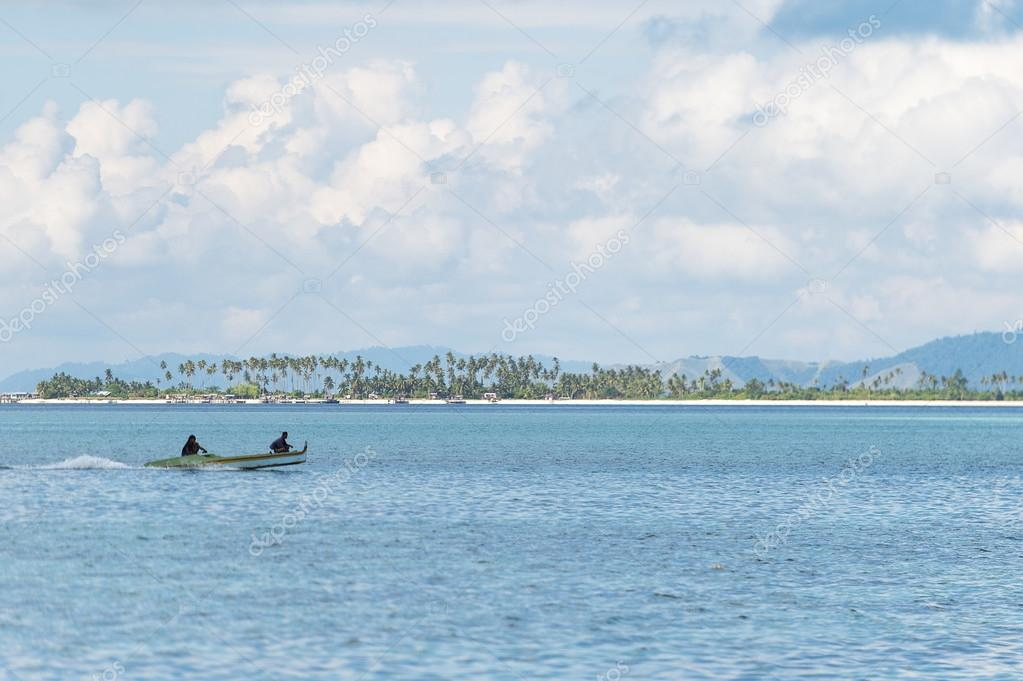 Daily life at Mabul Bodgaya island, Malaysia.