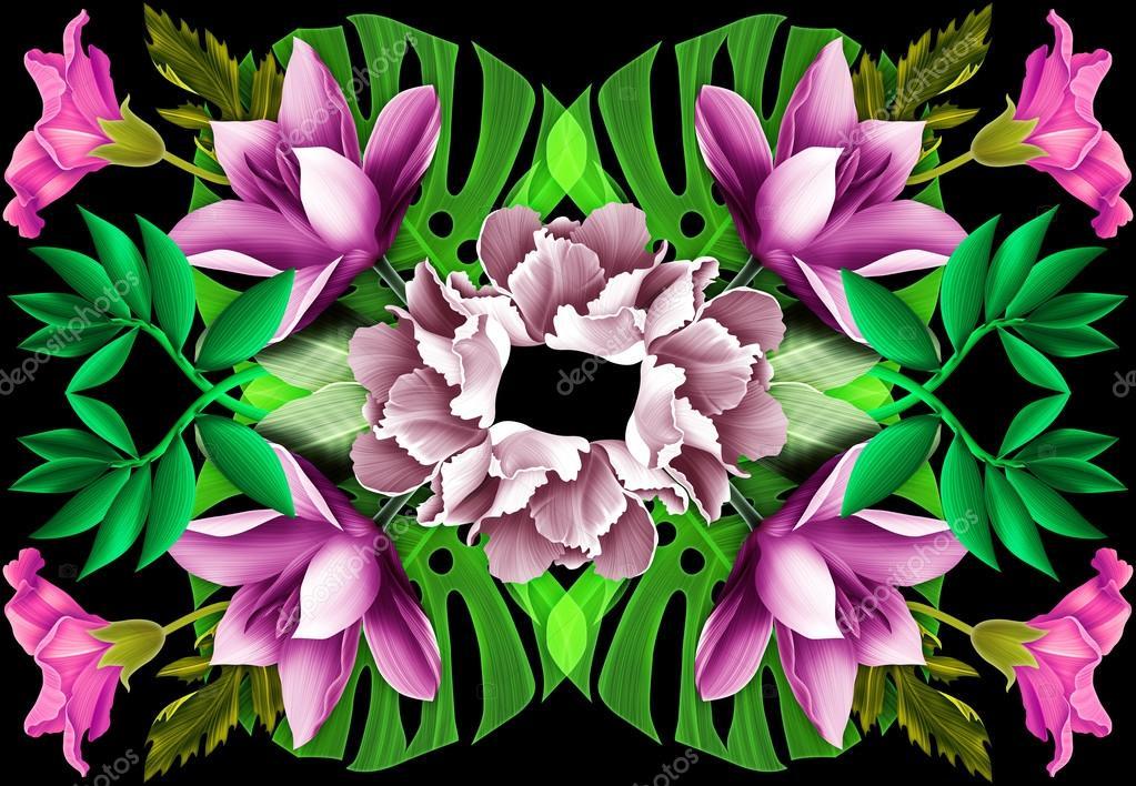 Geometrie De Fleur Tropique Hawaien Californien Floride Summer