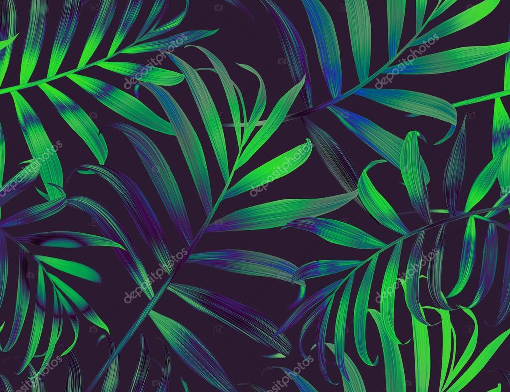 Tropical Floral Pattern In Hawaiian Style Stock Photo