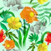 Bezešvé tropické květinové pozadí, v havajském stylu