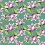 elegante florale nahtlose Muster mit Lotusblüten
