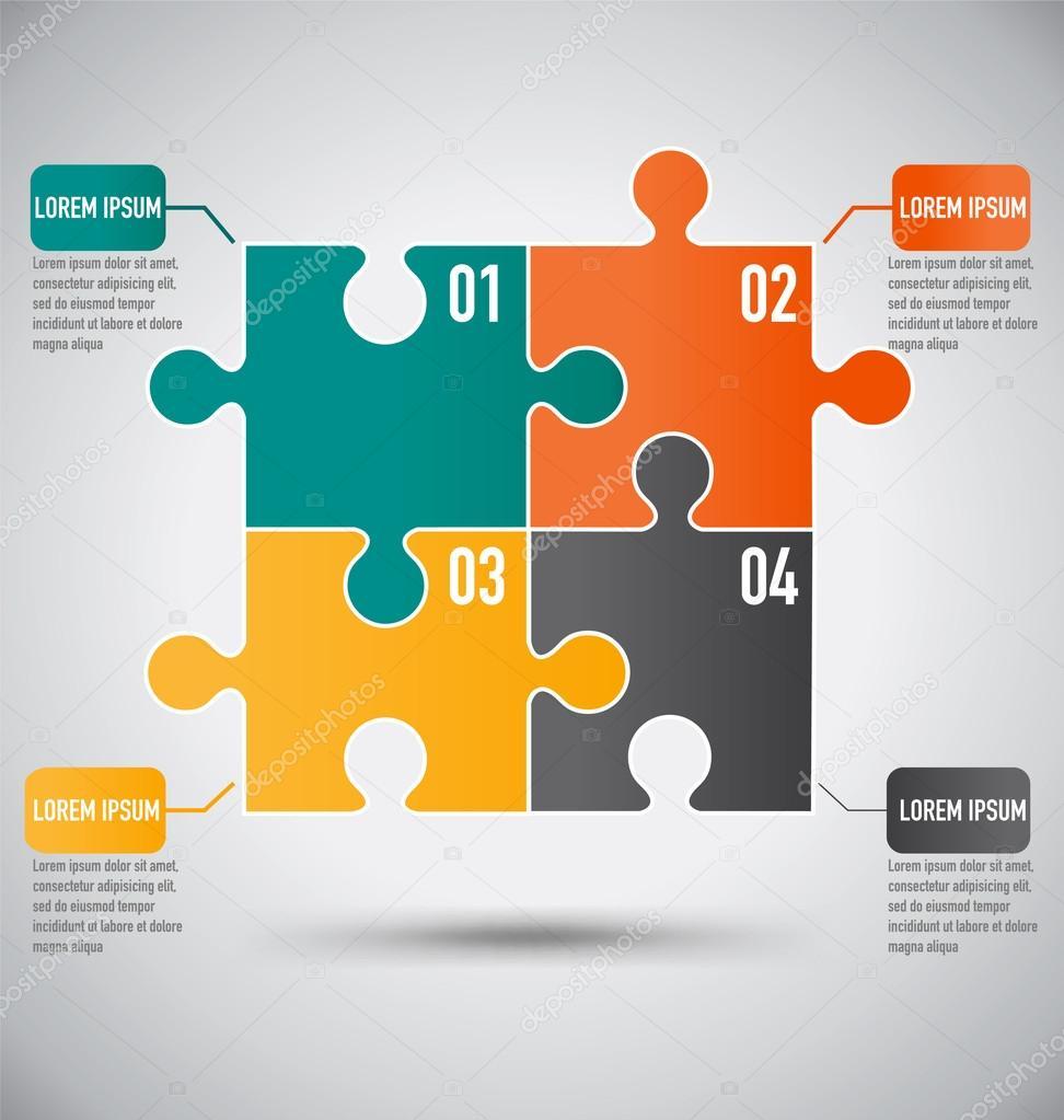 Squre puzzle piece infogrficos modelo com conceito de negcio squre puzzle piece infogrficos modelo com conceito de negcio vetor de stock ccuart Gallery
