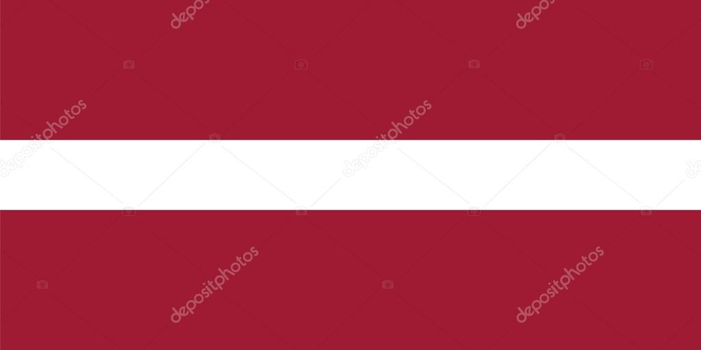 proporções de padrão para a bandeira da letónia vetor de stock