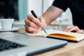 Ember írás megjegyzi-ba jegyzetfüzet