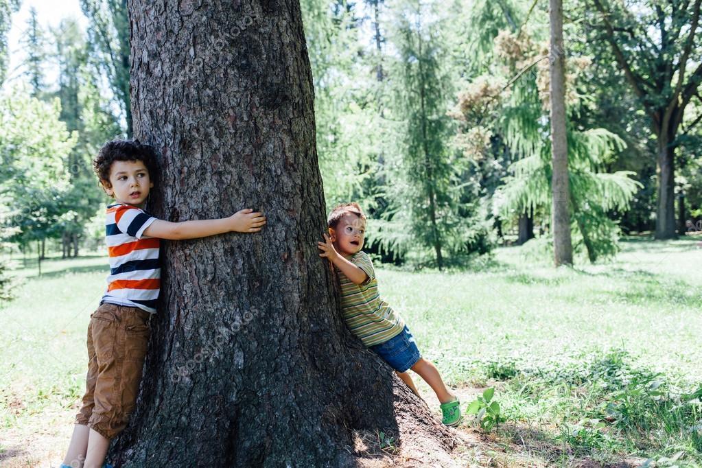 Children explore nature