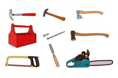 Woodworking tools set