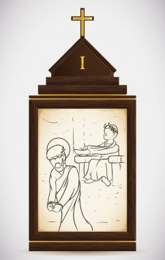 Jesus is Condemned to Death, Vector Illustration