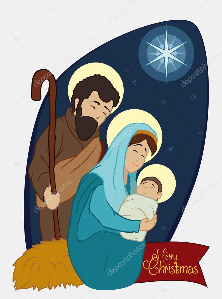 Imagenes Sagrada Familia Navidad.Imagenes La Sagrada Familia Caricatura Navidad Pesebre