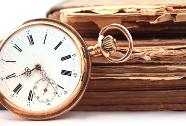 Vintage pocket watch closeup