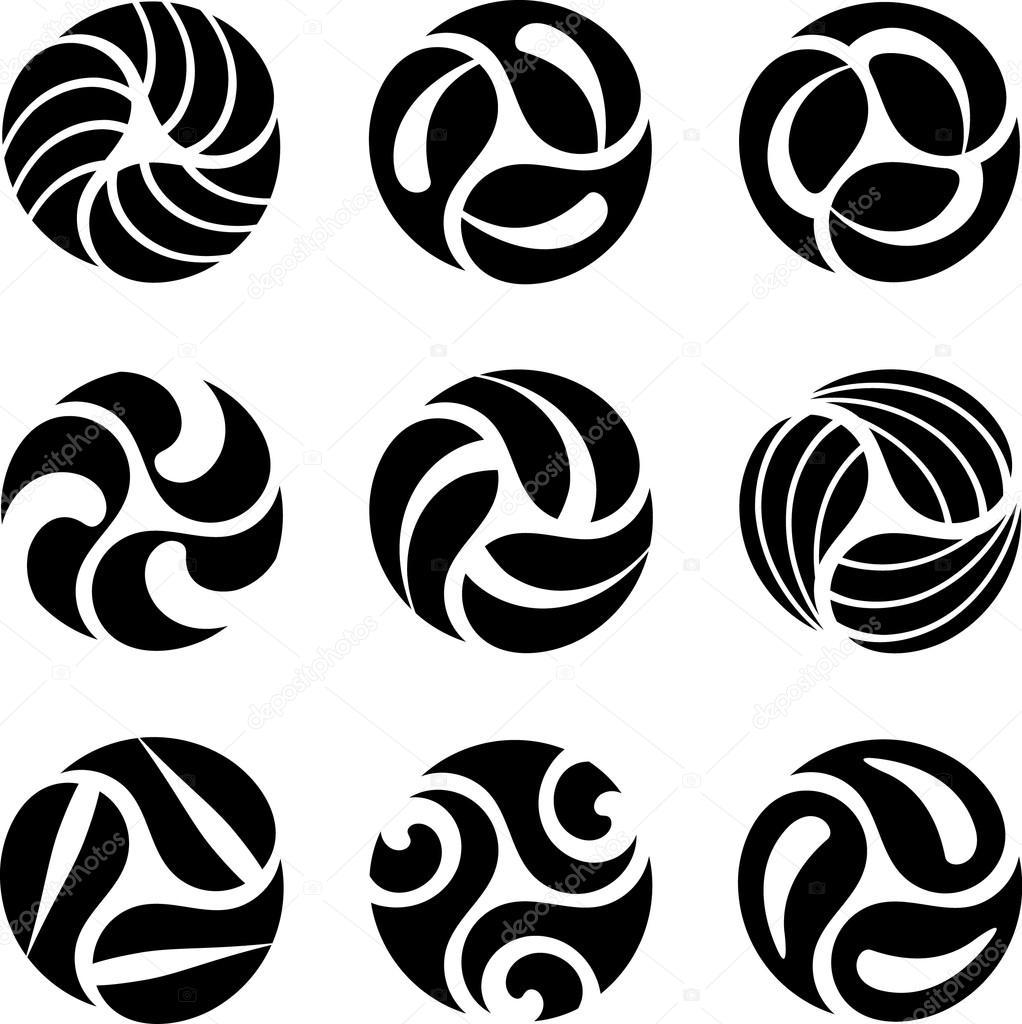 Black round symbols