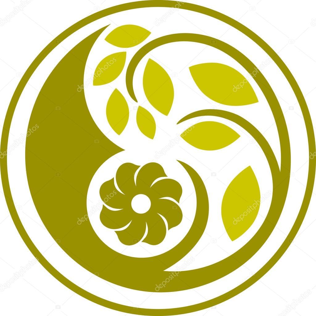 Decorative floral circle