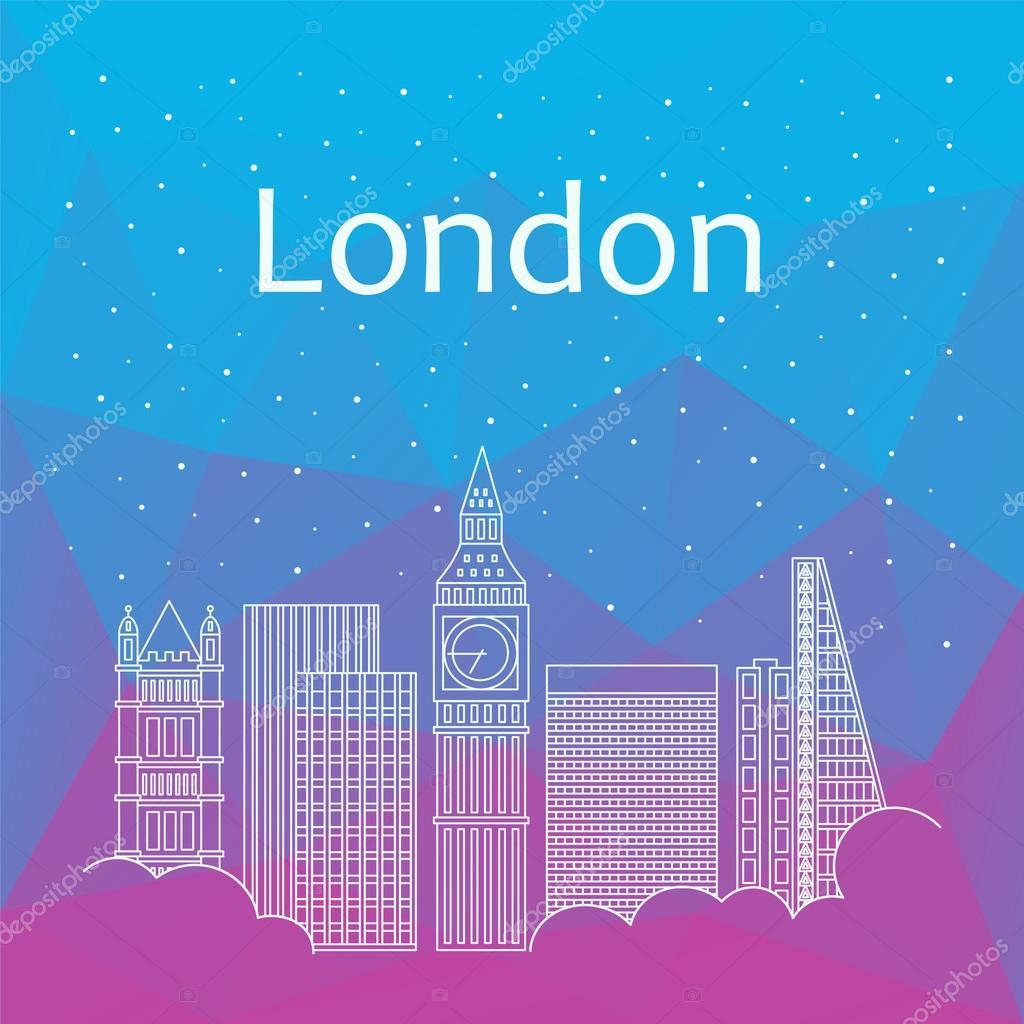 ロンドンのバナー、ポスター、イラスト、ゲームの背景します
