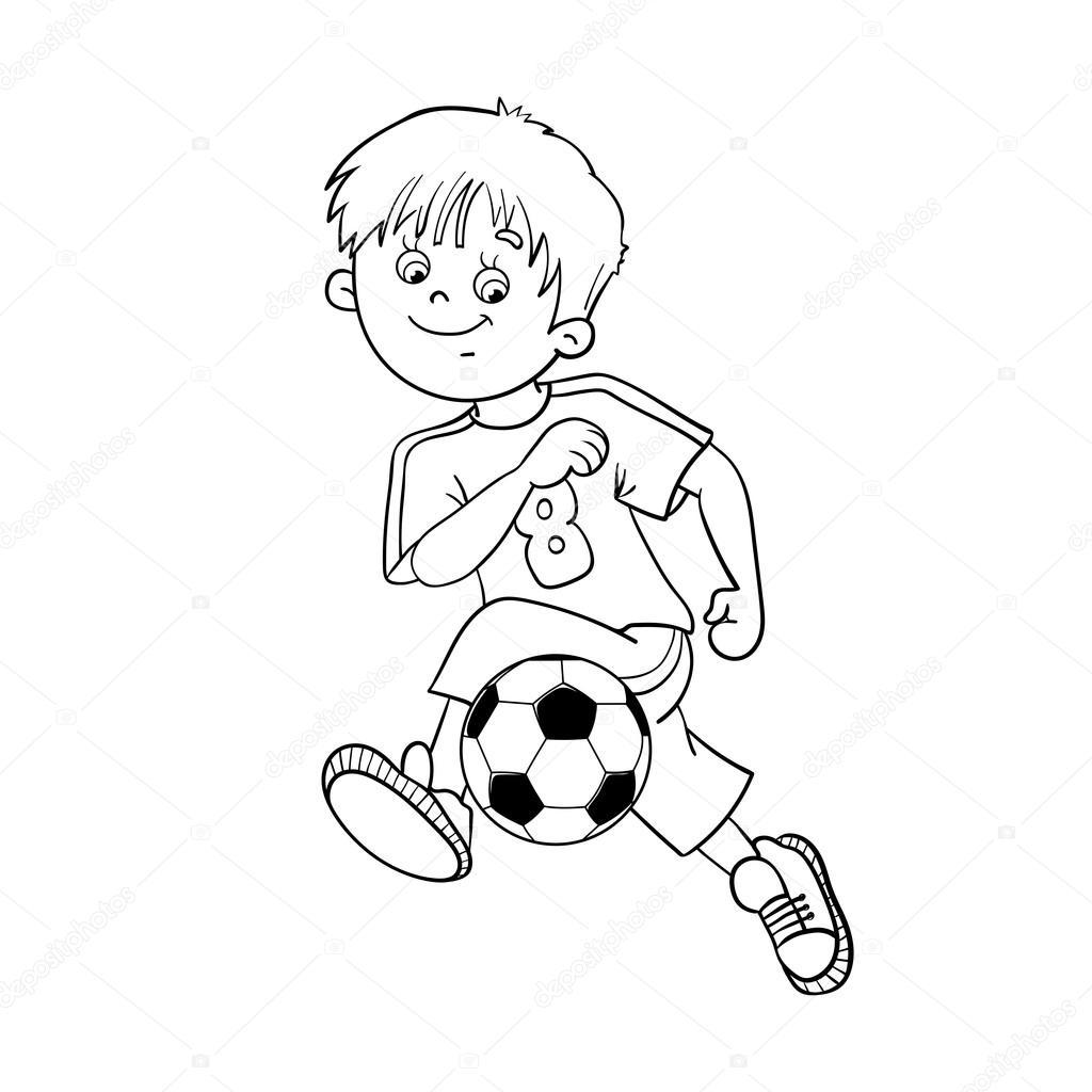 Sayfa Anahat Bir Futbol çocuk Boyama Stok Vektör Oleon17 85118026
