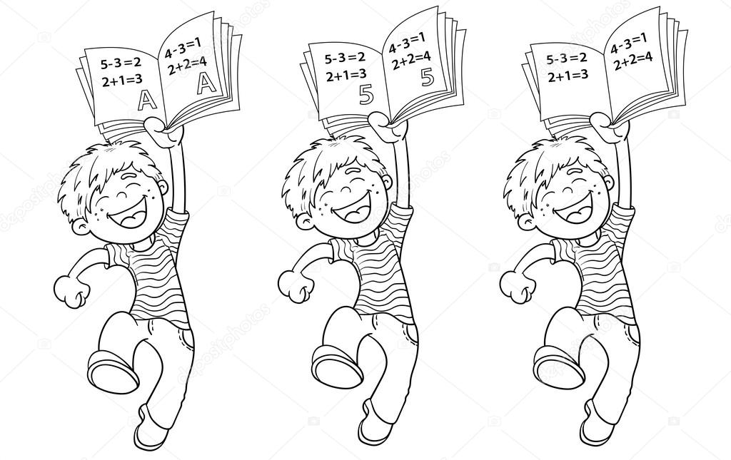 Colorear página esquema de una historieta de salto chico con rati ...