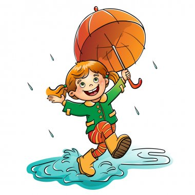 ✅ umbrella jump rain premium vector download for commercial use. format:  eps, cdr, ai, svg vector illustration graphic art design