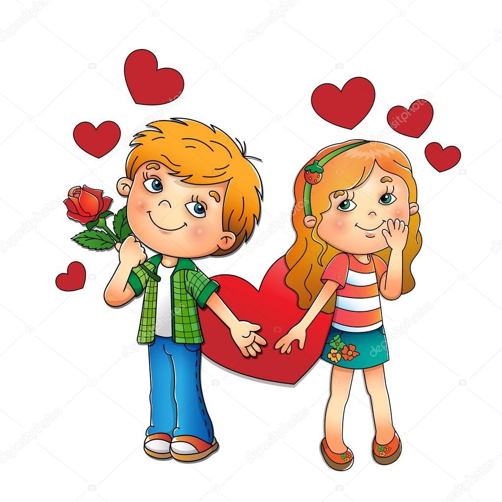 Imágenes: niños enamorados animados   Día de los
