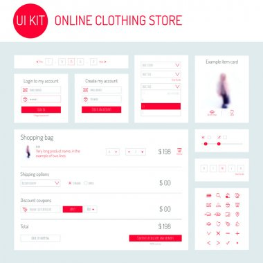 UI Kit for online clothing store