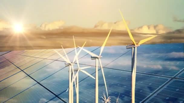 Klimatické změny Větrné turbíny a solární panely