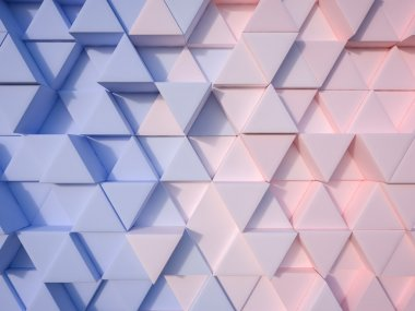 Serenity Blue and Rose Quartz  abstract 3d triangle background