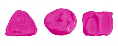 Hot Pink  color paint isolated on white