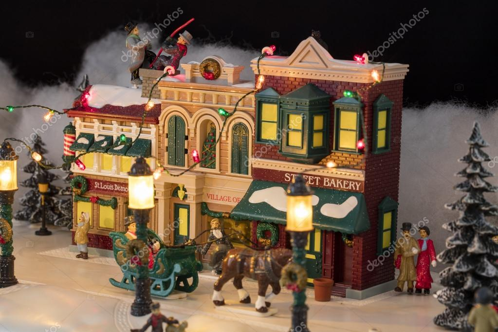 Miniature Christmas Village Scene Stock Photo C Almana4327 93011046