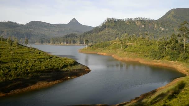 Maskeliya Lake and Adams Peak