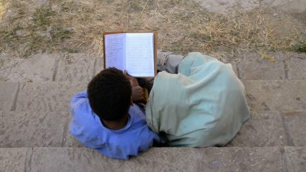 Couple reading book