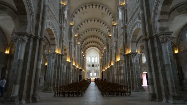 interier of Romanesque Basilica of St Magdalene
