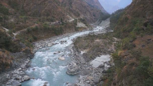 river in Himalayan mountain massive