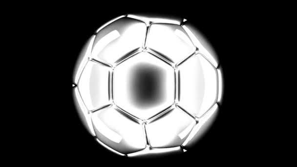 fotbalový míč rotující 3d vykreslení