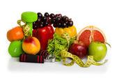 fitness vybavení a zdravé potraviny