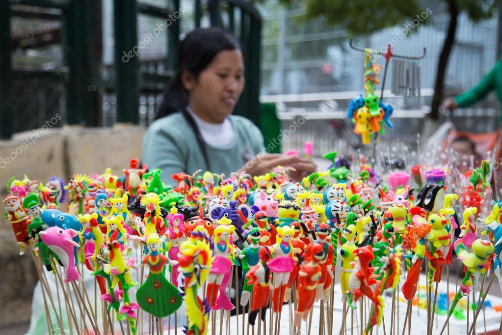 Vietnamese Handicrafts Woman Making Toys Stock Editorial Photo
