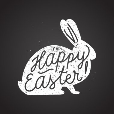 Happy easter calligraphy lettering